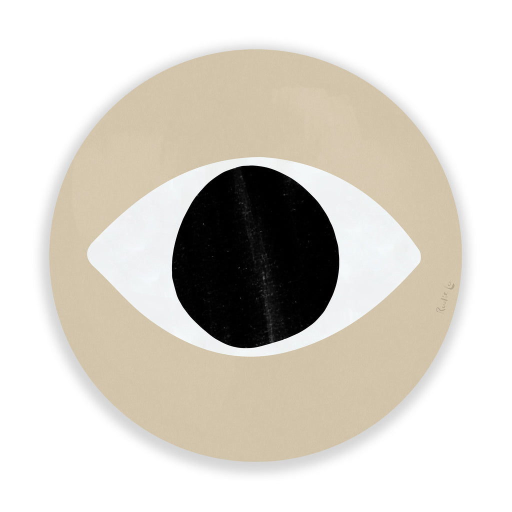 Evil Eye (Ecru) (Circle) by Rudie Lee