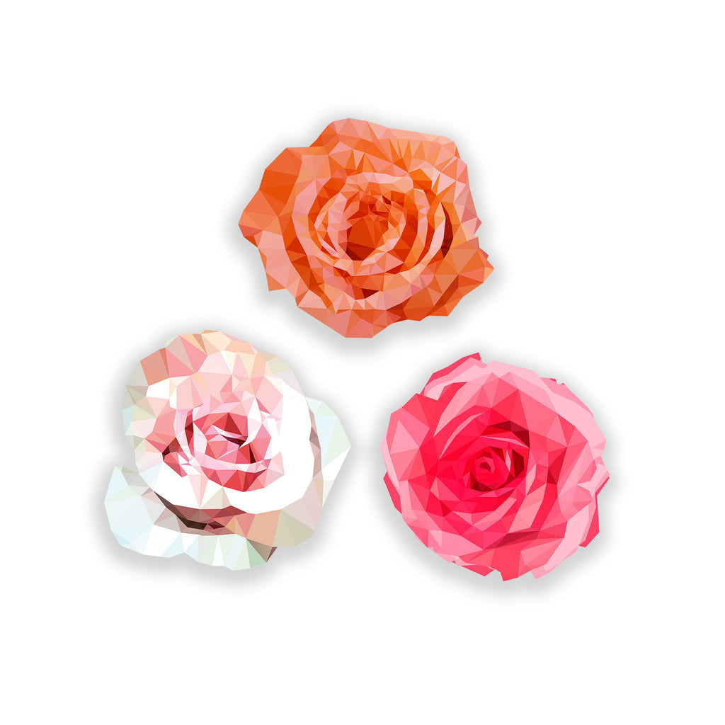 Geo Flower (Set of 3)