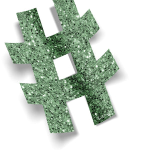 Hashtag (Green) by Rudie Lee