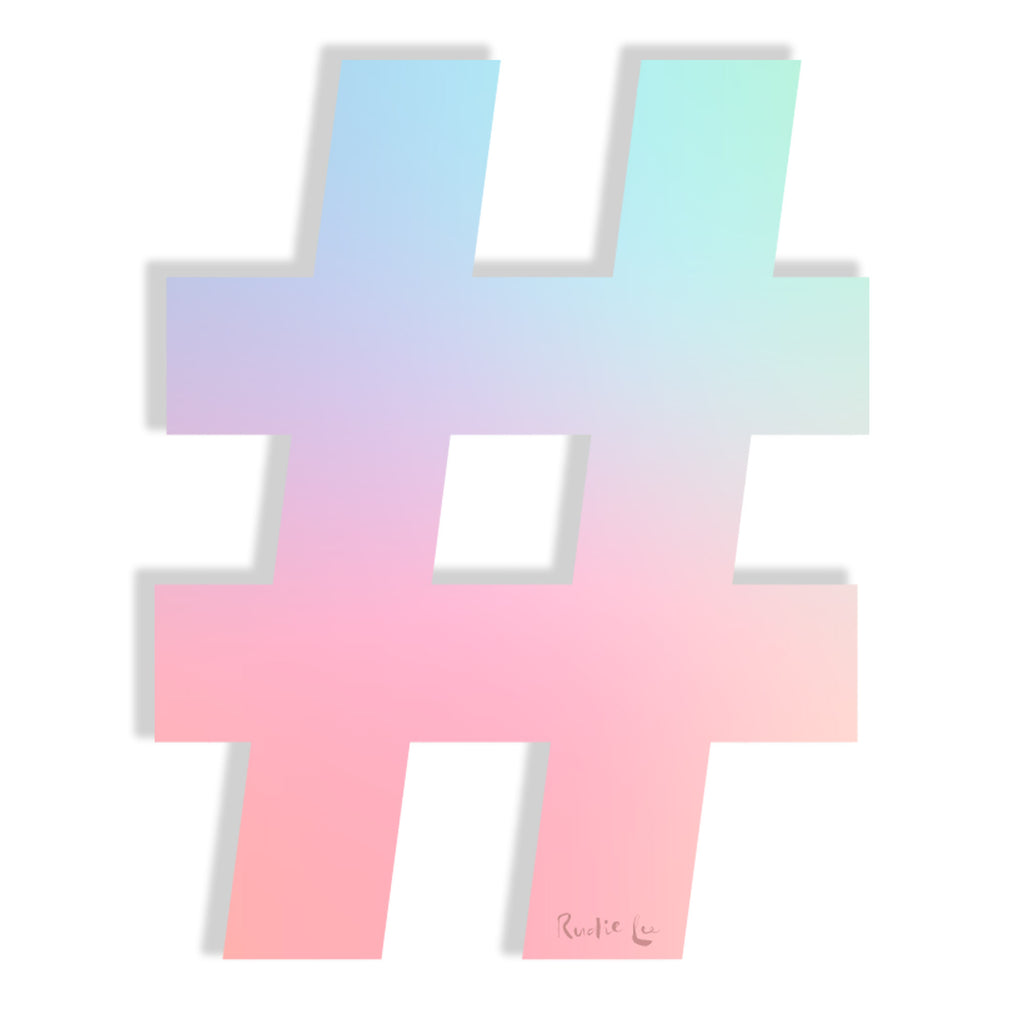Hashtag (Holo) by Rudie Lee