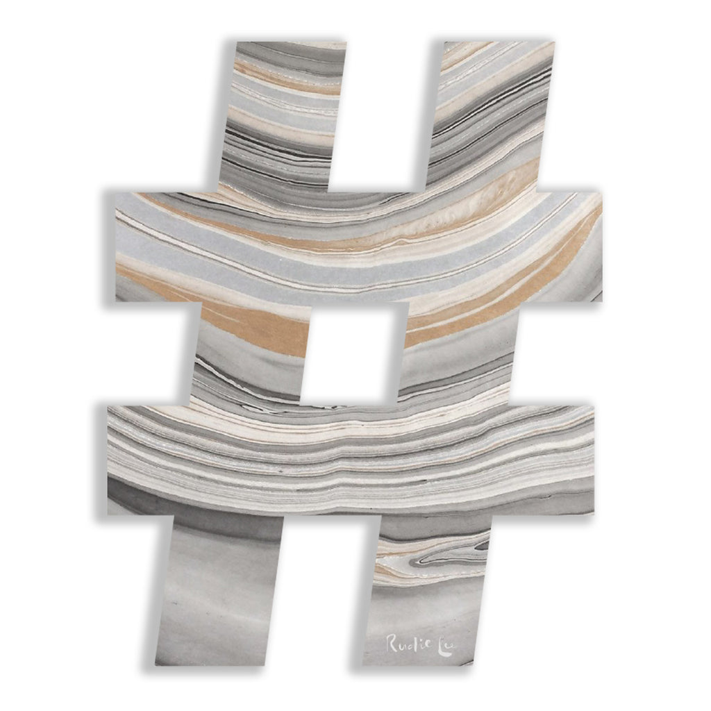 Hashtag (Luxe Marbled) by Rudie Lee