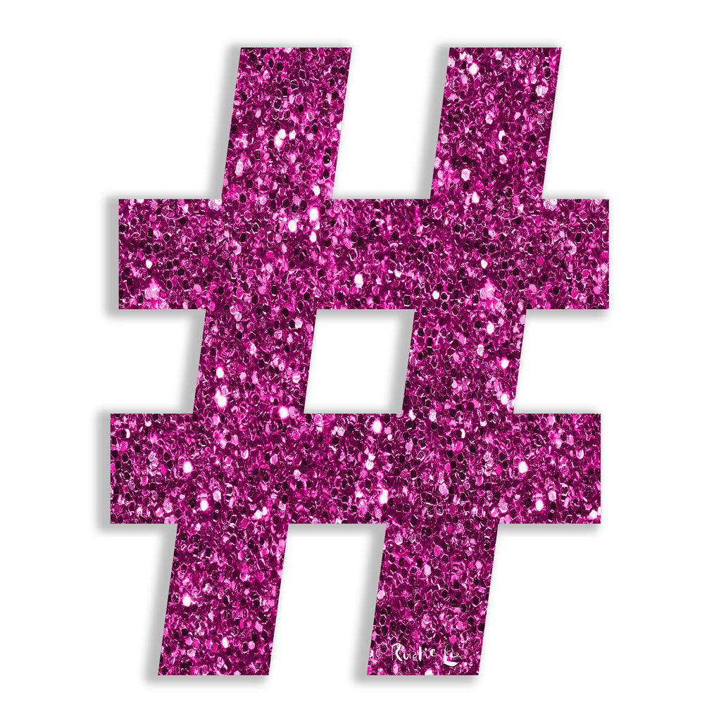 Hashtag (Pink) by Rudie Lee
