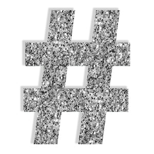 Hashtag (Silver) by Rudie Lee