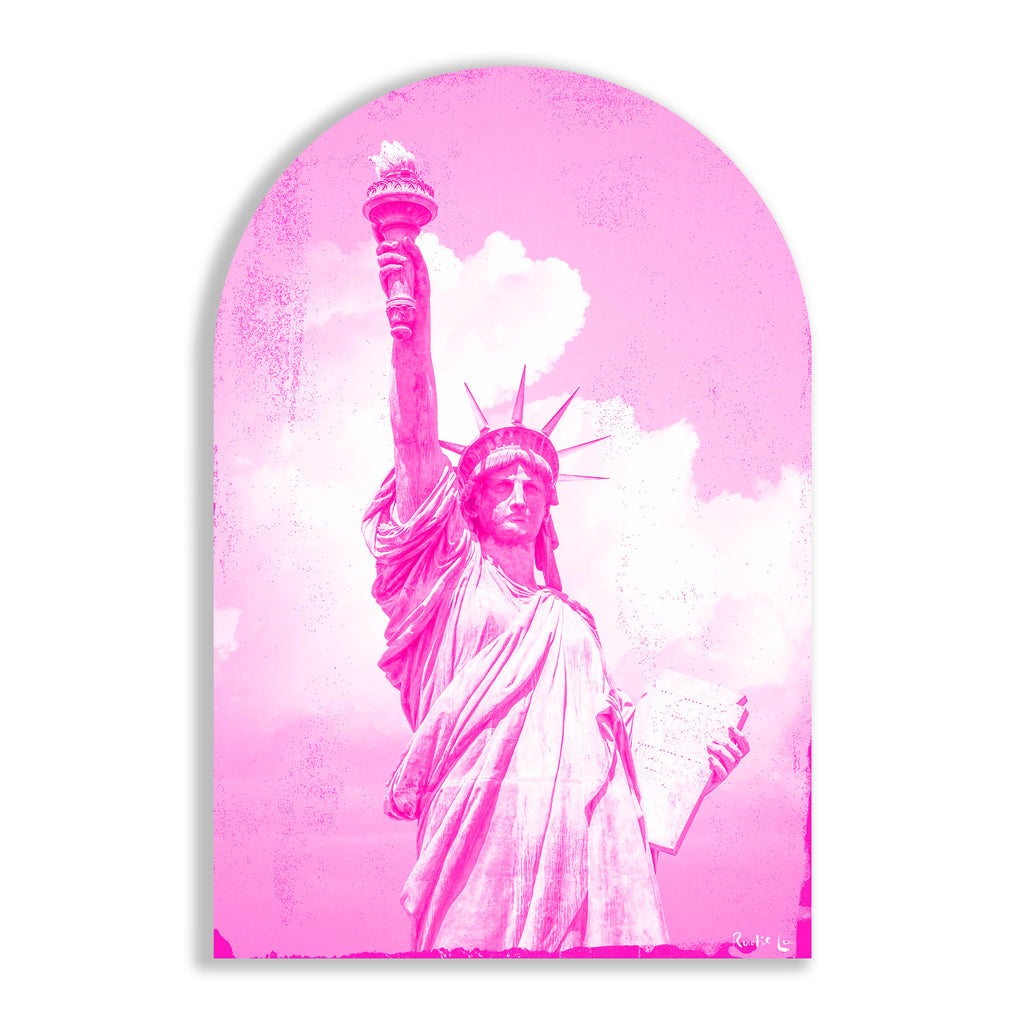 Lady Liberty Remixed (Magenta) (Arched) by Rudie Lee