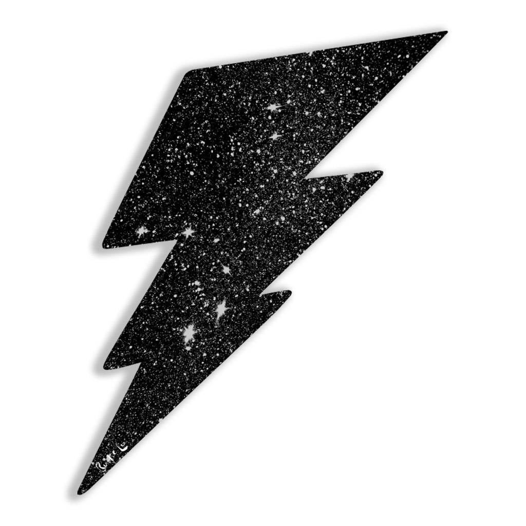 Lightning Bolt No. 02 (Black) by Rudie Lee