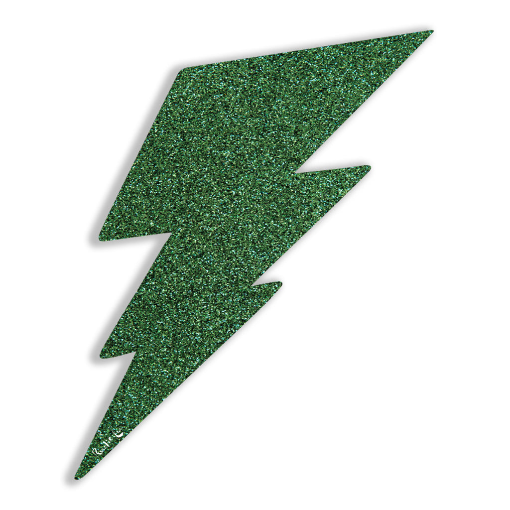 Lightning Bolt No. 02 (Green) by Rudie Lee