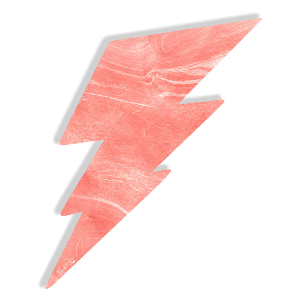 Lightning Bolt No. 02 (Luxe Blush) by Rudie Lee