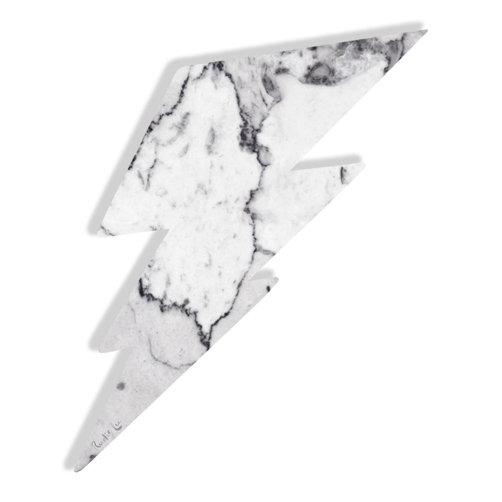 Lightning Bolt No. 02 (Luxe White) by Rudie Lee