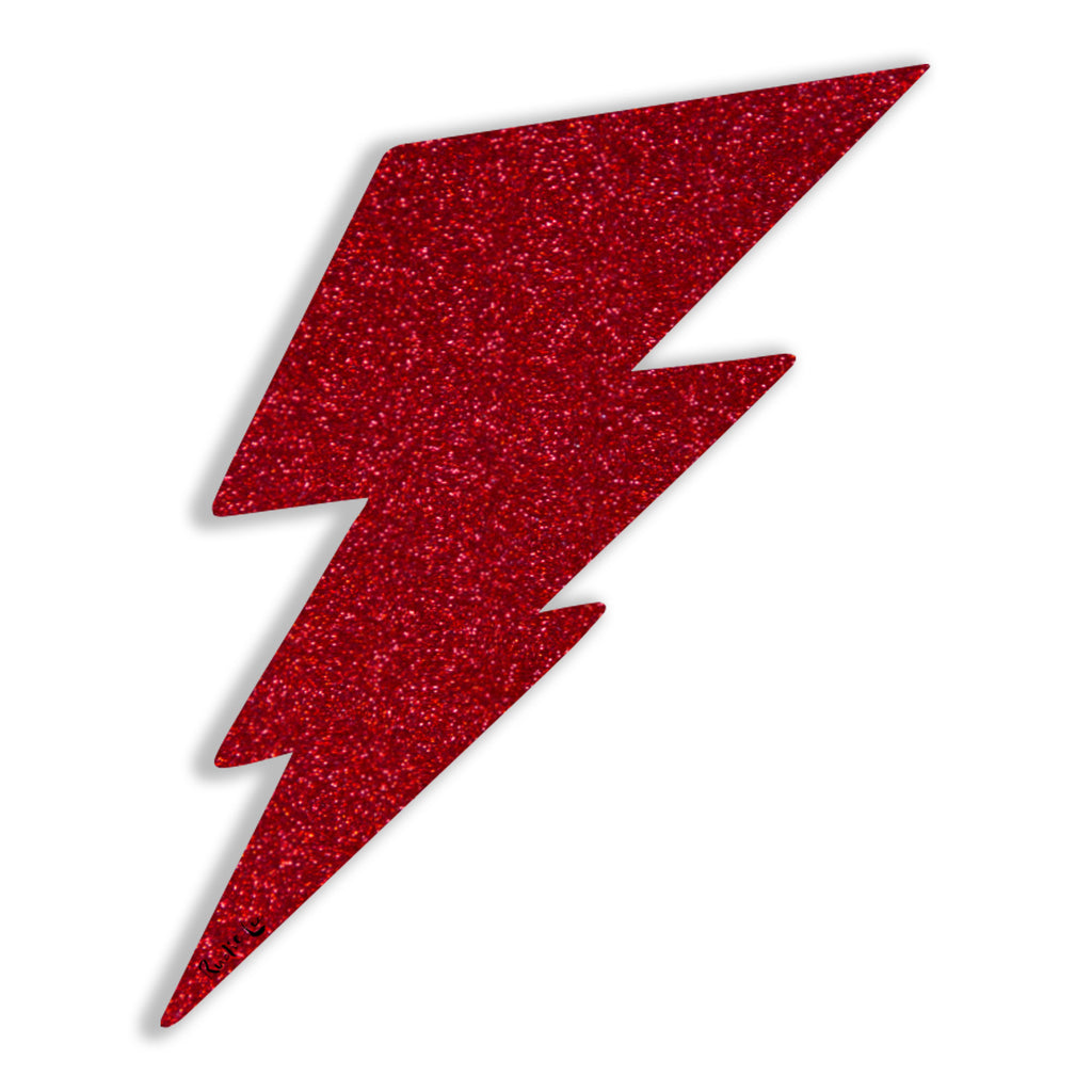 Lightning Bolt No. 02 (Red) by Rudie Lee
