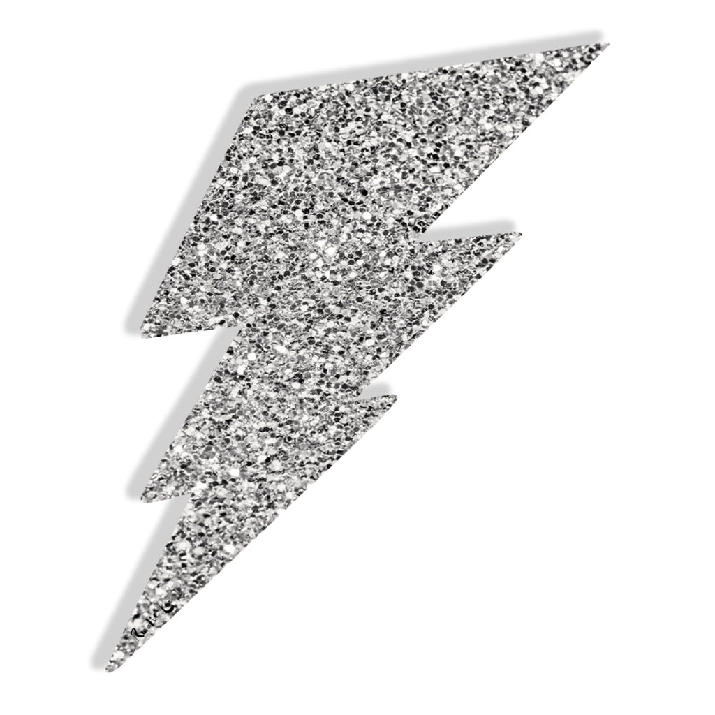 Lightning Bolt No. 02 (Silver) by Rudie Lee