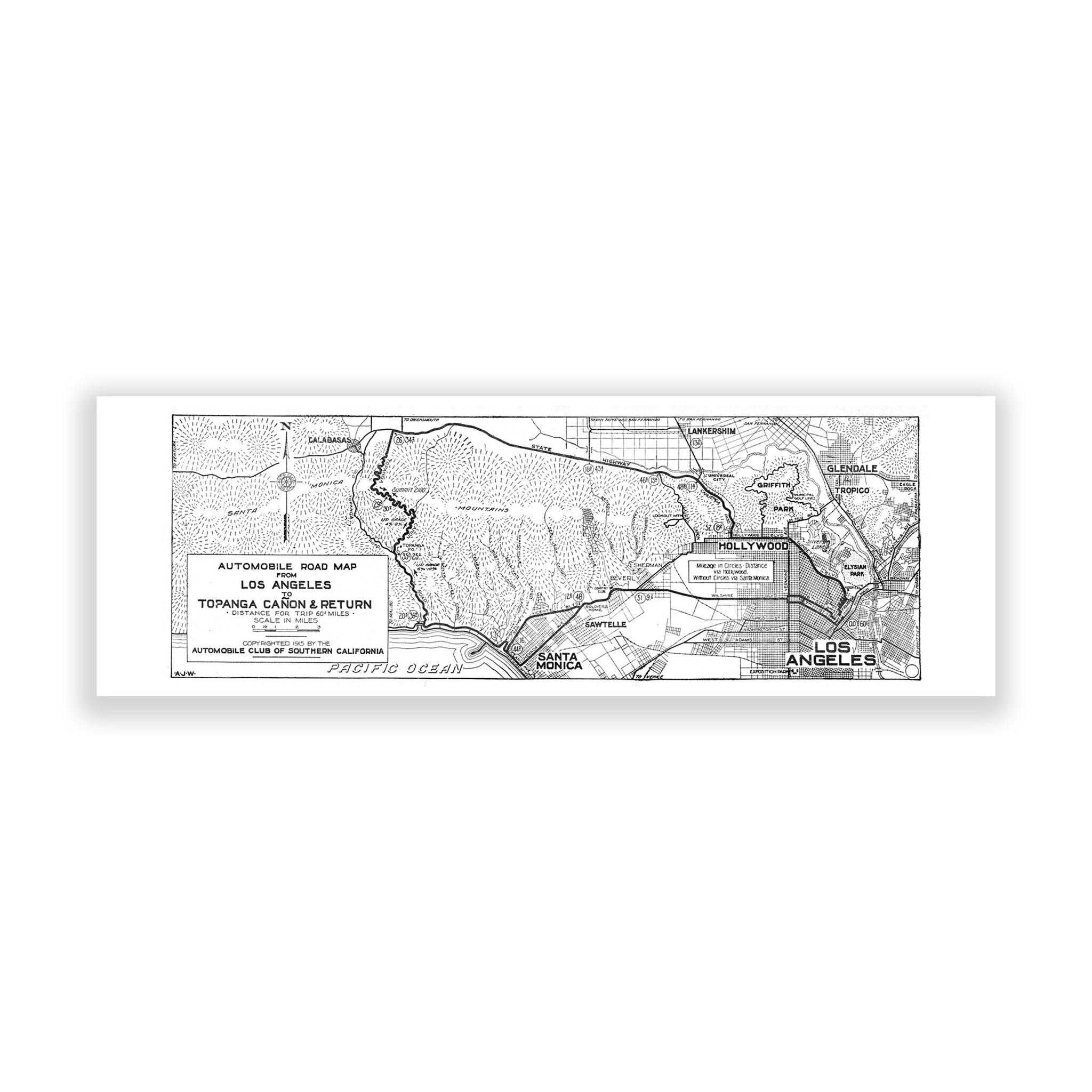Map of Los Angeles (Topanga Canyon)