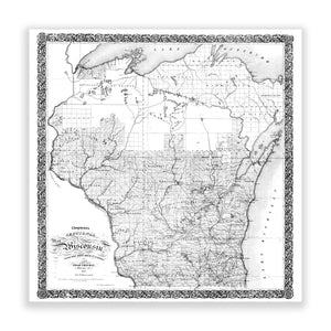 Map of Wisconsin No. 01