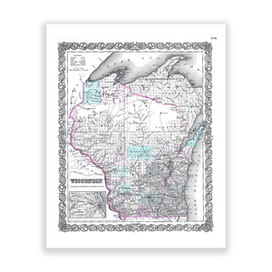 Map of Wisconsin No. 02