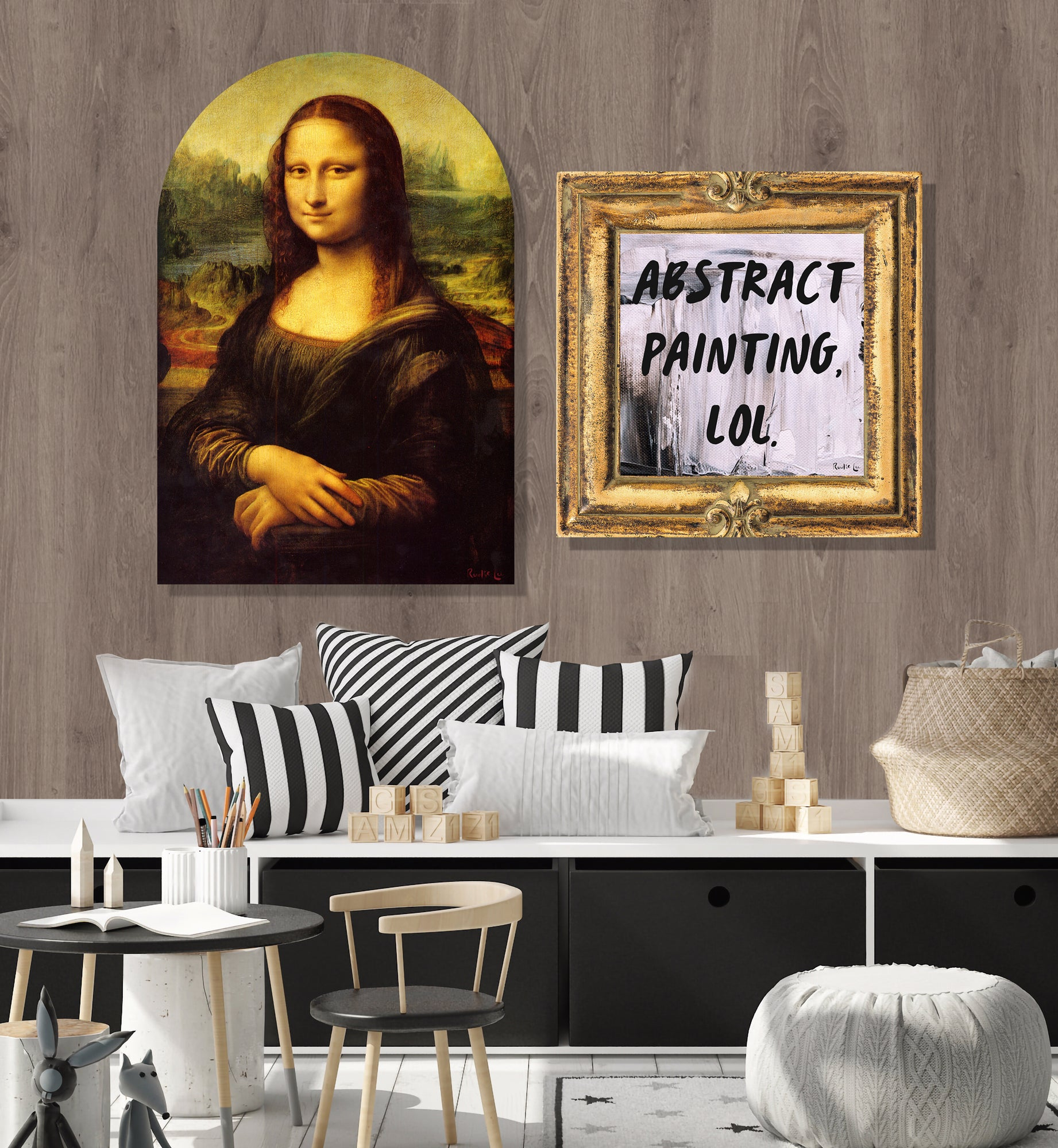 Mona Lisa Remixed (Arched) by Rudie Lee