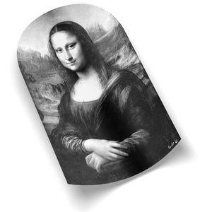 Mona Lisa Remixed (B&W) (Arched) by Rudie Lee