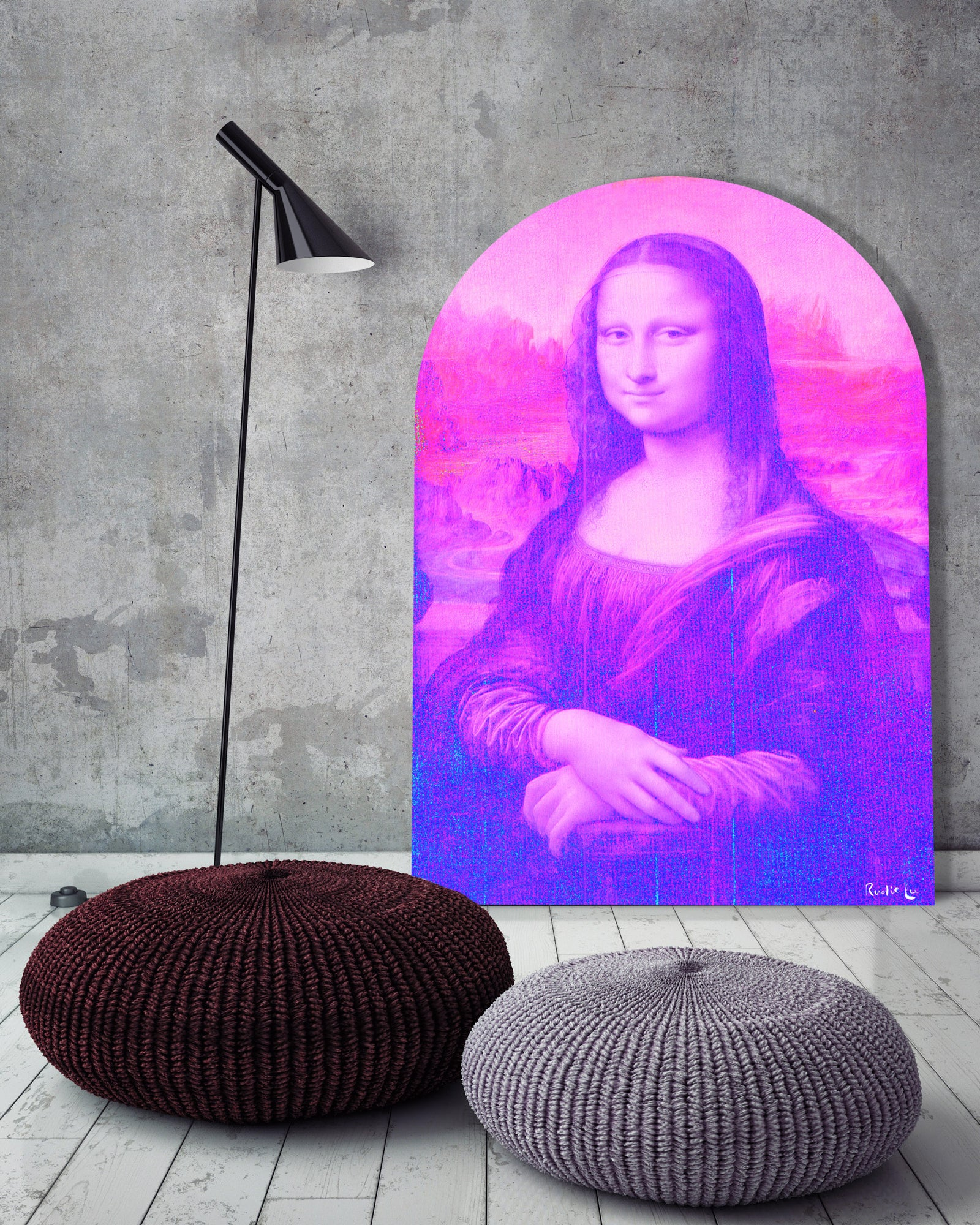 Mona Lisa Remixed (Magenta) (Arched) by Rudie Lee
