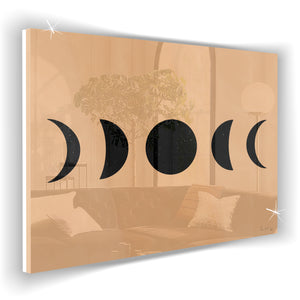 Moon Phases (Black) (Neutral) by Rudie Lee