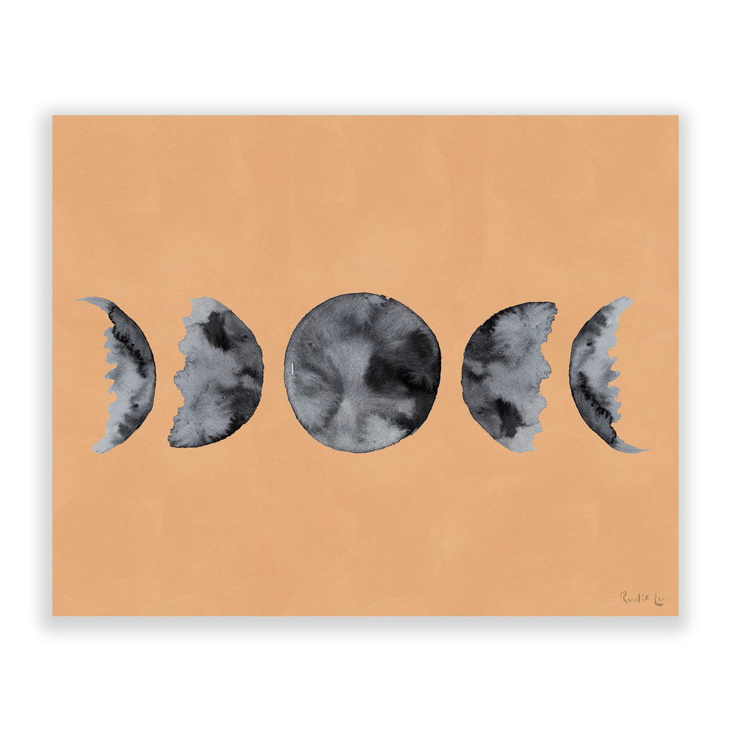 Moon Phases (Watercolor) (Neutral) by Rudie Lee