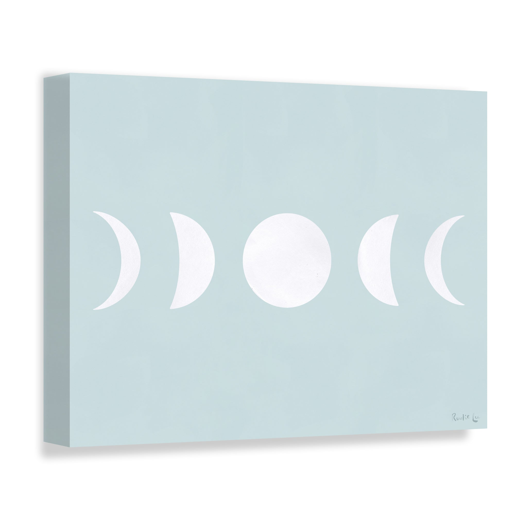 Moon Phases (White) (Blue Ashes) by Rudie Lee