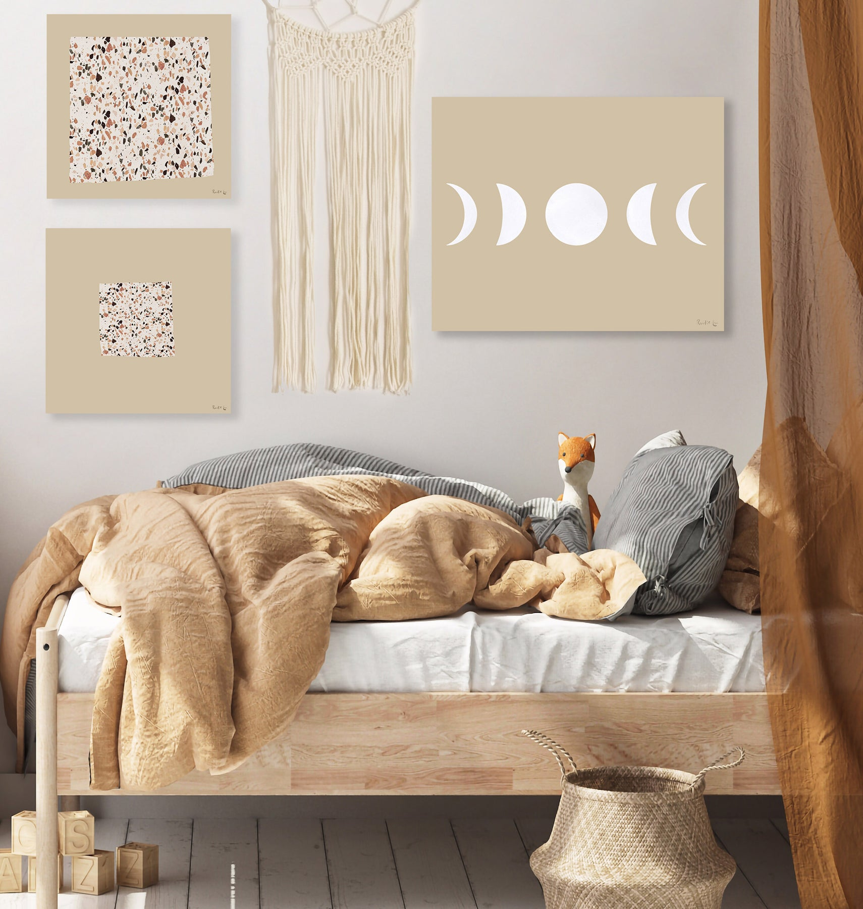 Moon Phases (White) (Ecru) by Rudie Lee