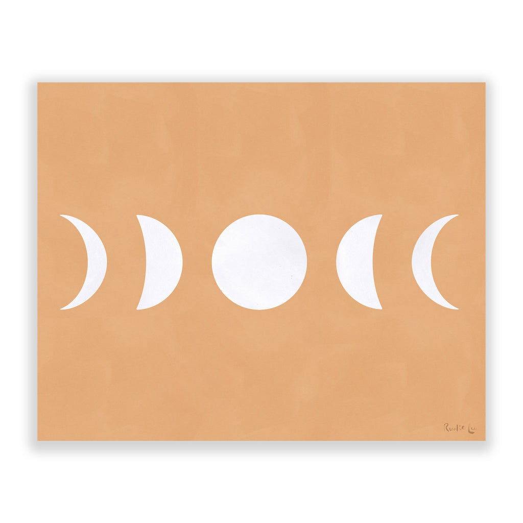 Moon Phases (White) (Neutral) by Rudie Lee