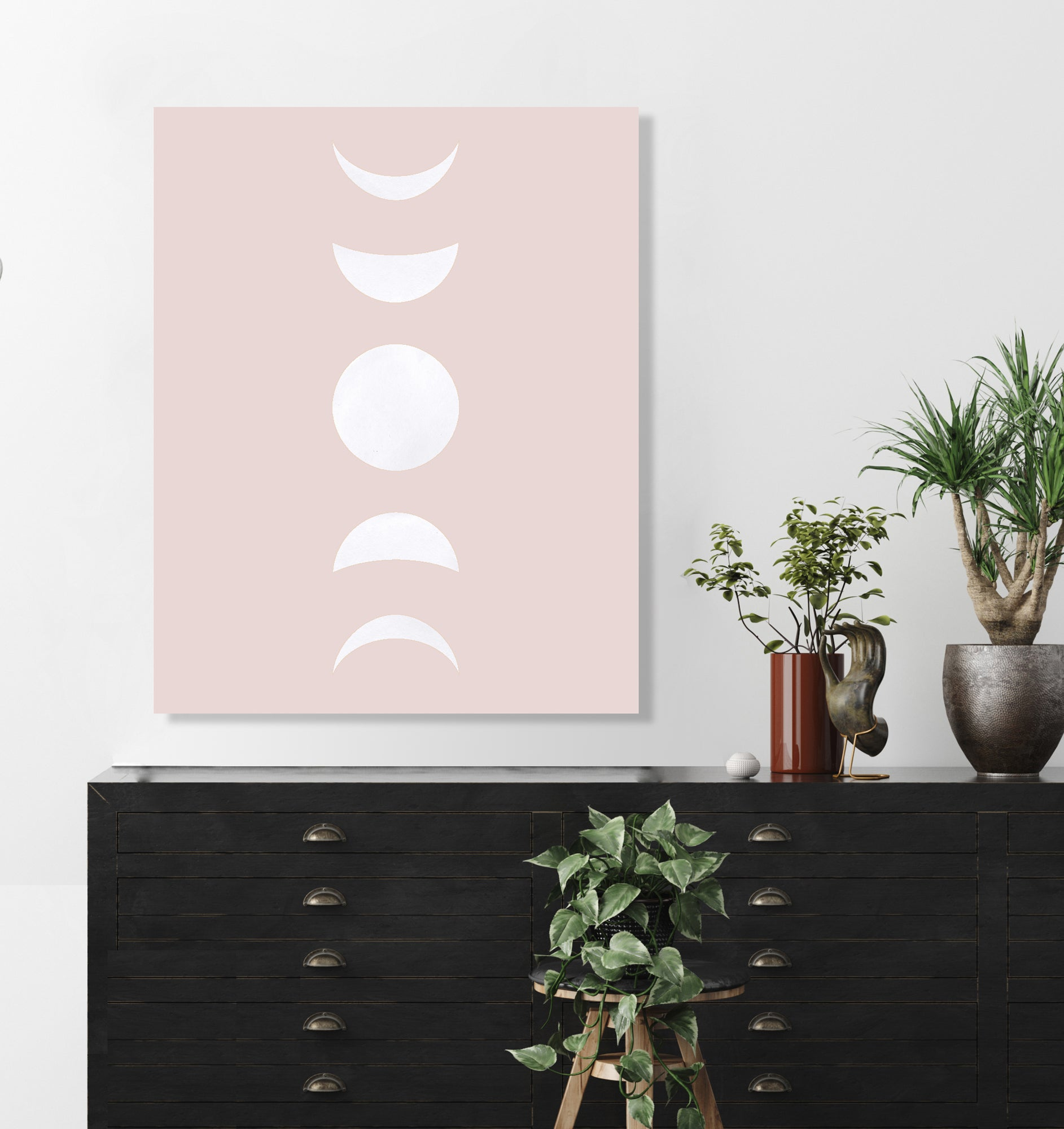 Moon Phases (White) (Pink Ashes) by Rudie Lee