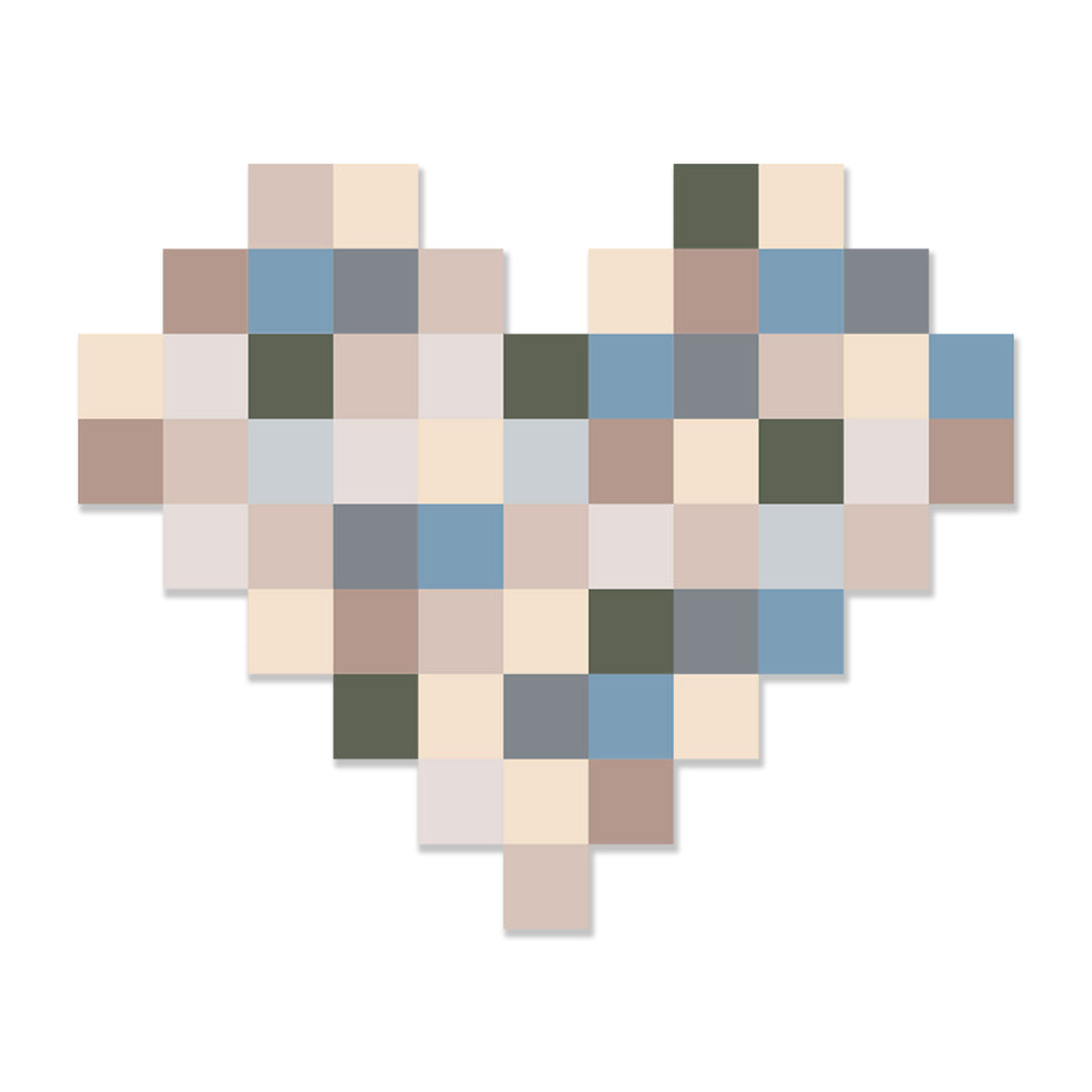 My 8-bit Heart No. 01 by Rudie Lee