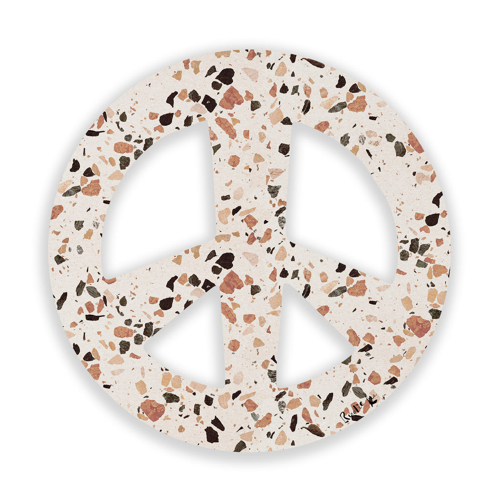 Peace Sign (Terrazo) (Die Cut) by Rudie Lee