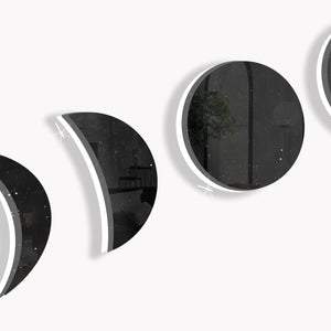 Phases of the Moon (Black Dust) (Die Cut) by Rudie Lee
