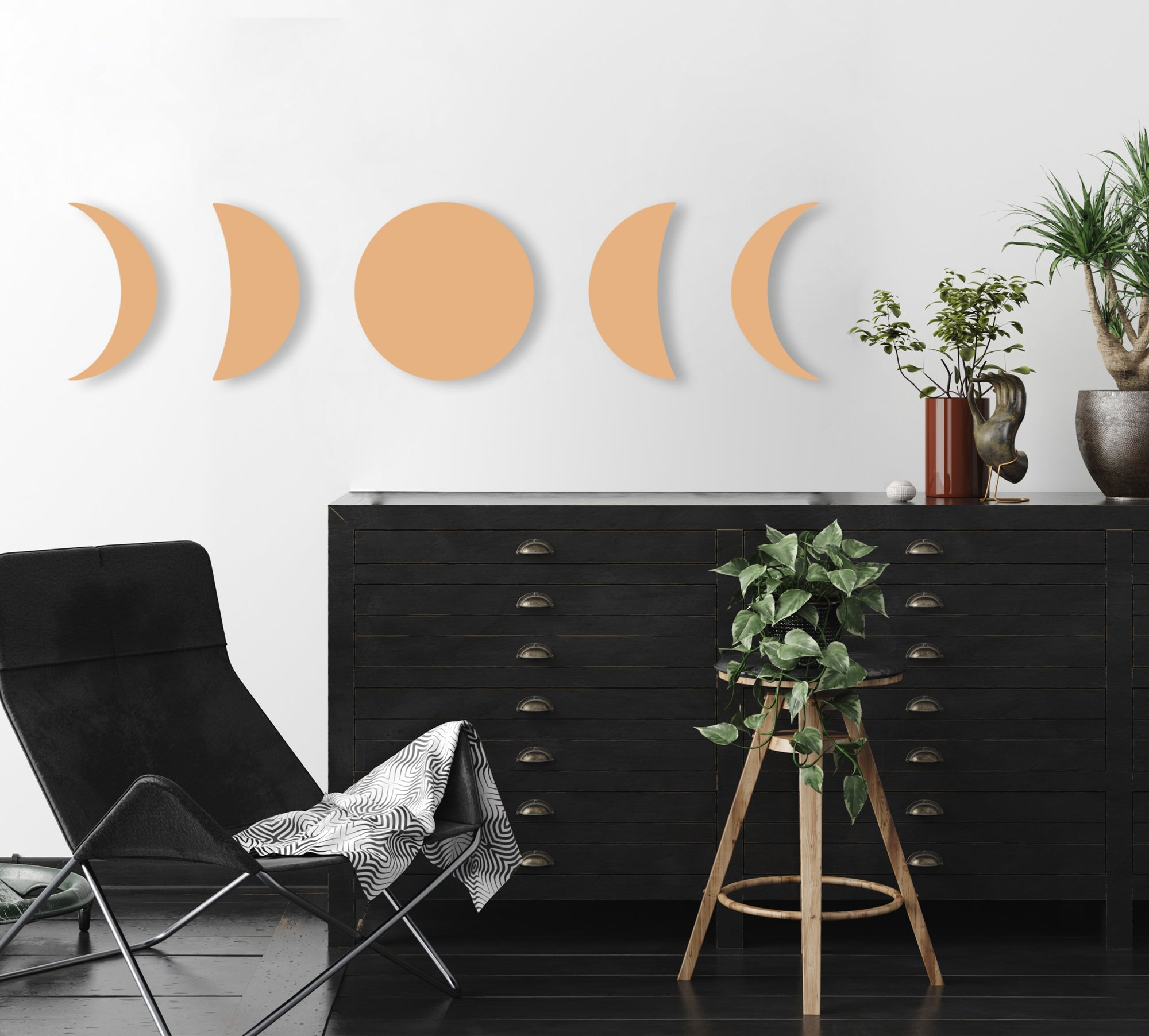 Phases of the Moon (Neutral) (Die Cut) by Rudie Lee