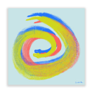 Python Gyotaku No. 02 (Brights Mint) by Rudie Lee