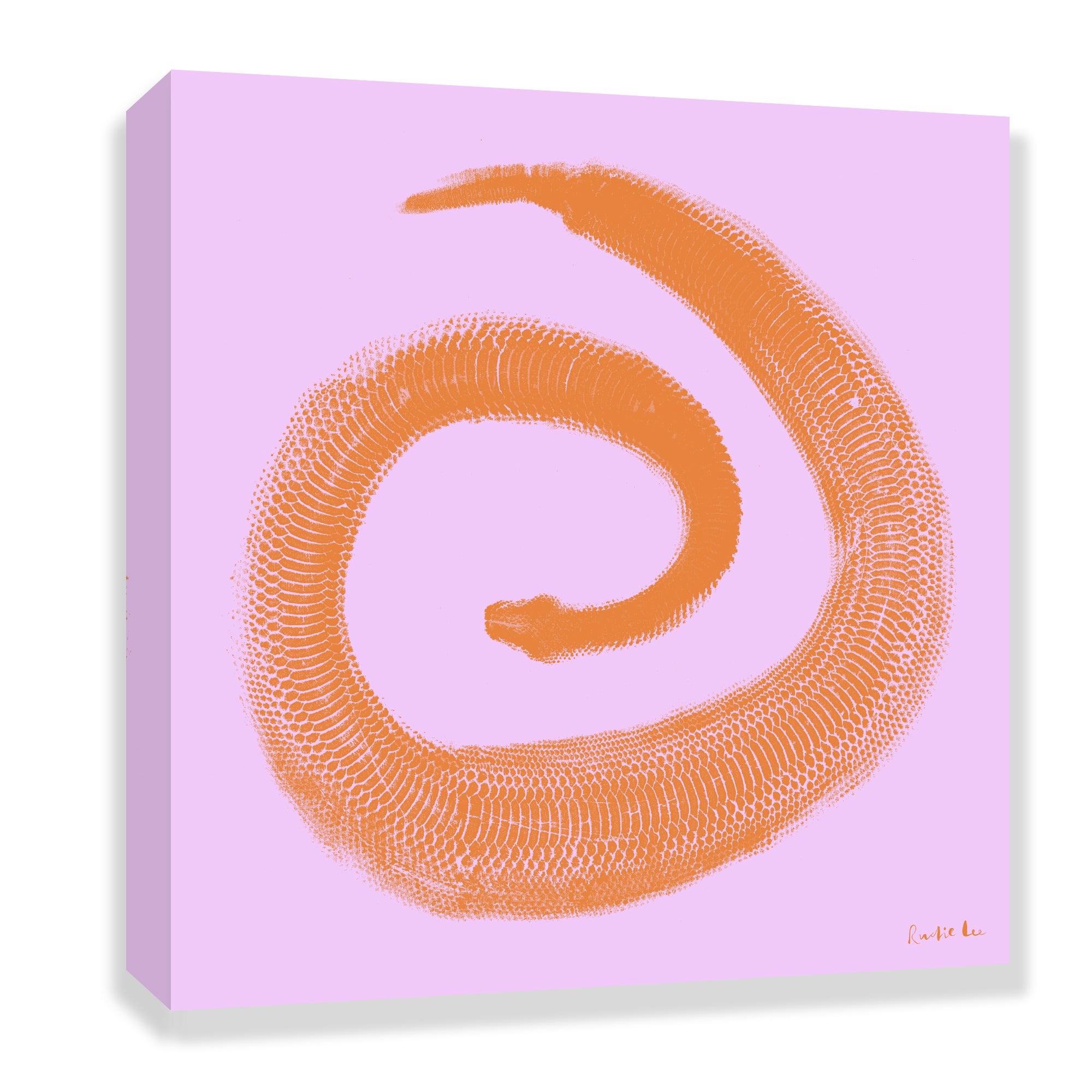 Python Gyotaku No. 02 (Coral Lilac) by Rudie Lee