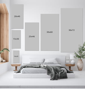 Rainbow (Luxe Blush) art piece printed on 36 x 72 in by Rudie Lee