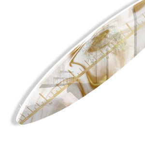 Surfboard Growth Chart (Gold Marble) by Rudie Lee