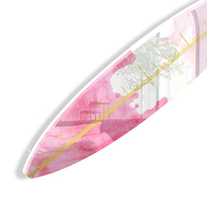Surfboard Growth Chart (Pink Waves No. 02) by Rudie Lee