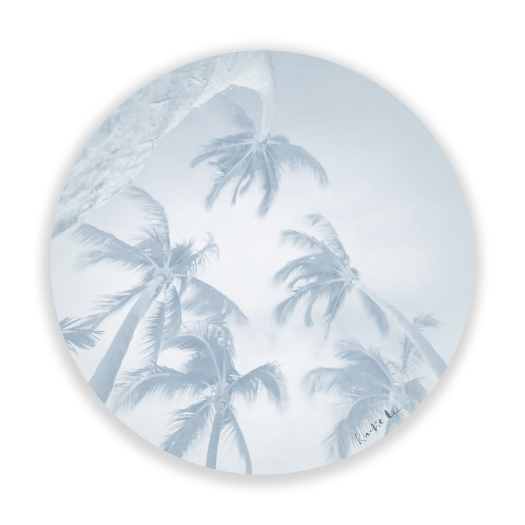 Swaying Palms (Pale Blue) by Rudie Lee