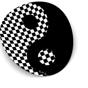 Yin Yang (Checkered Black) by Rudie Lee