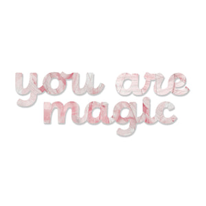 You are Magic (Blush Stone) art piece printed on 45 x 5.5 in by Rudie Lee