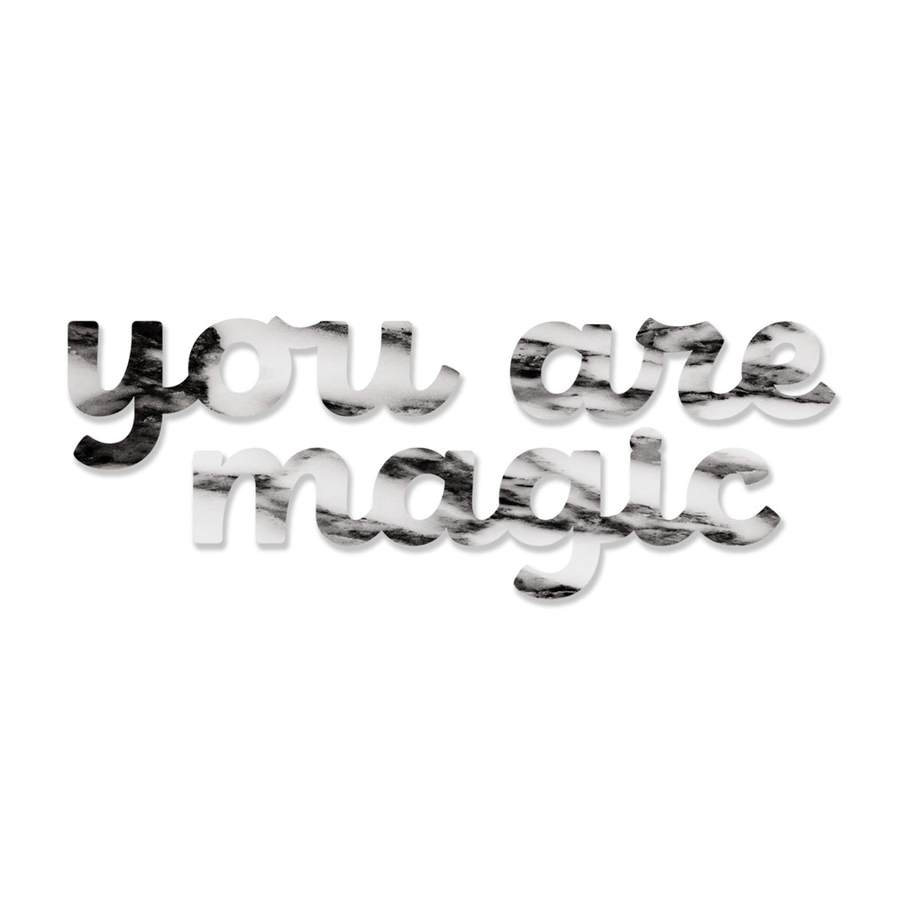 You are Magic (Grey Stone) art piece printed on 45 x 5.5 in by Rudie Lee
