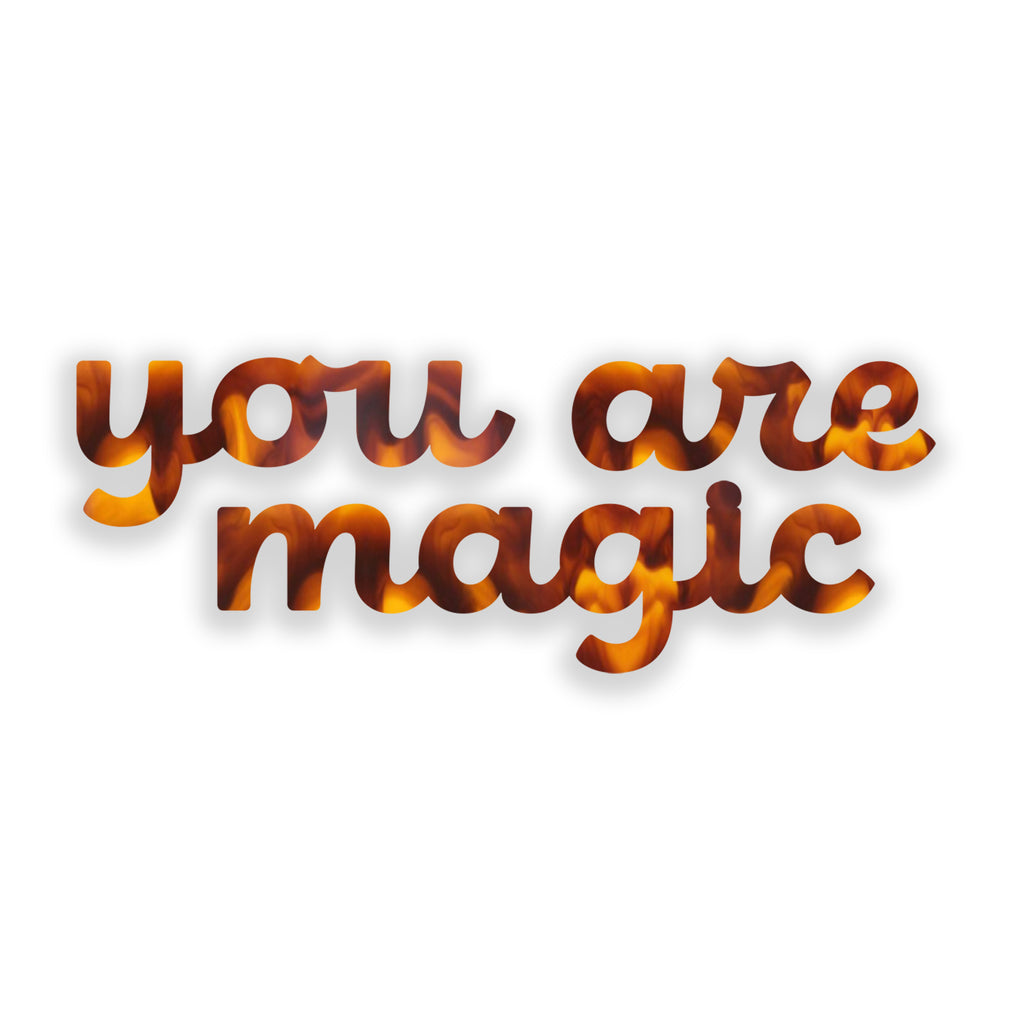 You are Magic (Tortoise Shell) art piece printed on 45 x 5.5 in by Rudie Lee