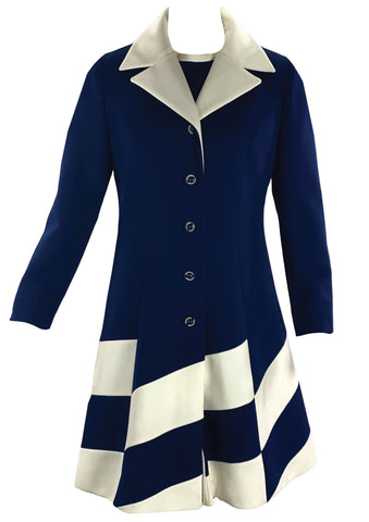 Vintage 1960s Lilli Ann Dress & Coat Ensemble- New!
