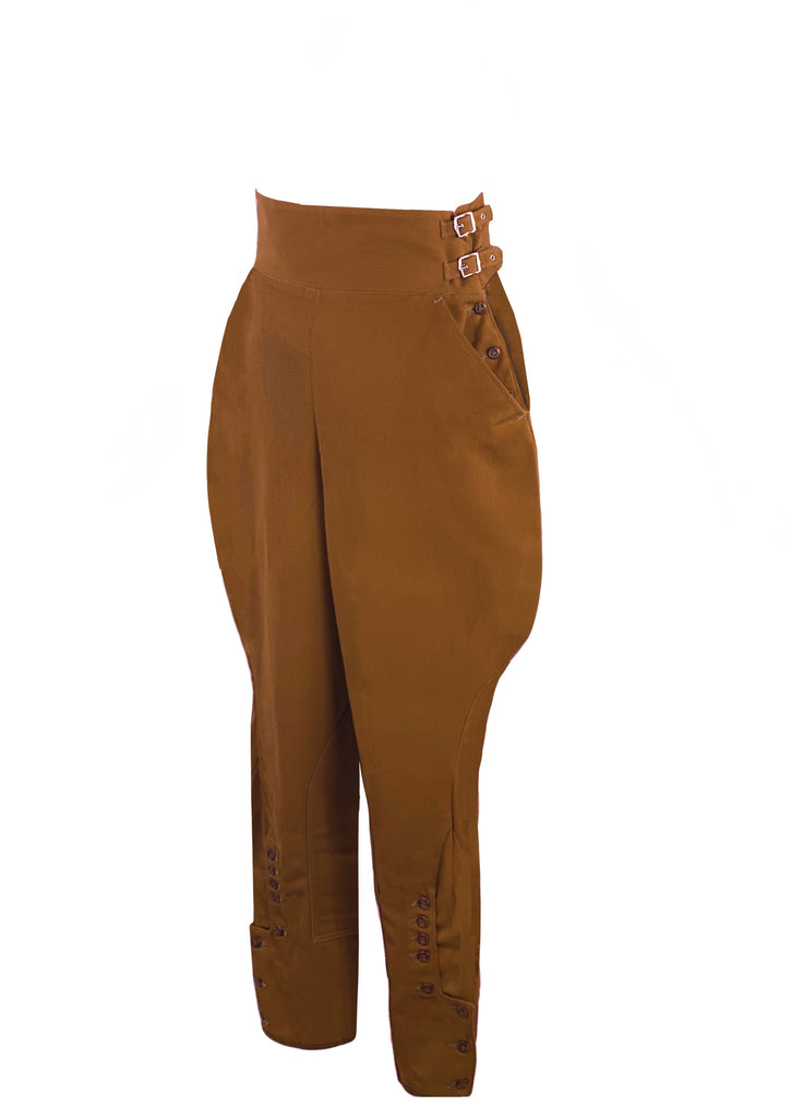 Vintage 1930s Tawny Brown Jodhpurs Riding Breeches- New!