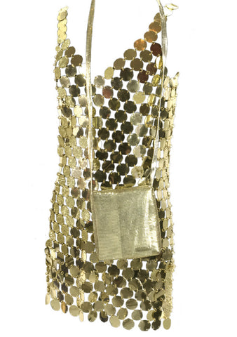 Iconic Paco Rabanne Space Age Designer Party Dress - New!