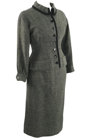 1950s B&W Houndstooth Designer Suit- New!
