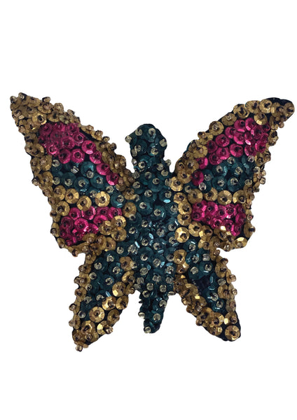 1940s Deadstock Butterfly Sequin Brooch- New!