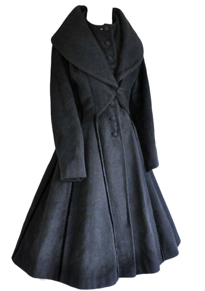 Vintage 1950s Lilli Ann Designer Princess Coat- New!