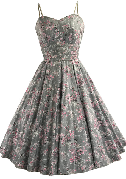 Vintage 1950s Asian Print Cherry Blossom Dress - New!