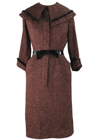 Vintage 1950s Wool Lilli Ann Designer Dress- New!