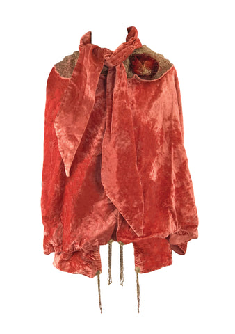 1920s Silk Velvet Flapper Jacket- New!