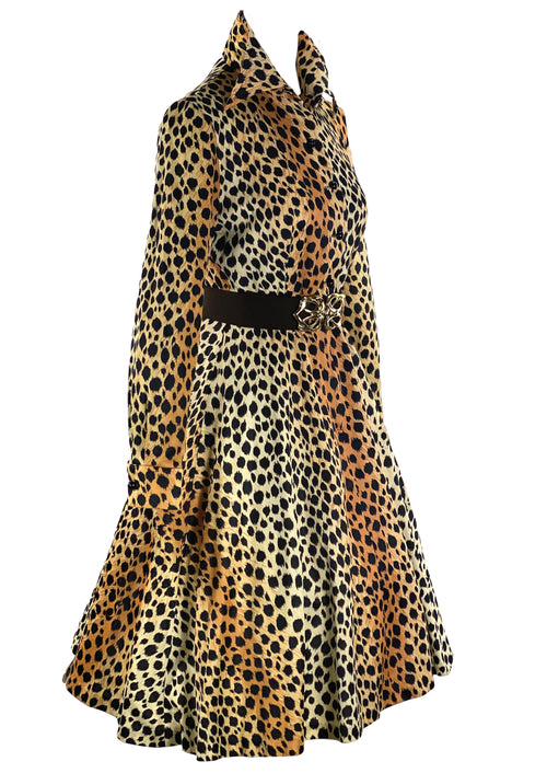 Vintage 1970s Cheetah Print Dress- New!